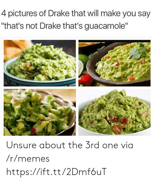 "Guacamole: 4 pictures of Drake that will make you say  ""that's not Drake that's guacamole"" Unsure about the 3rd one via /r/memes https://ift.tt/2Dmf6uT"