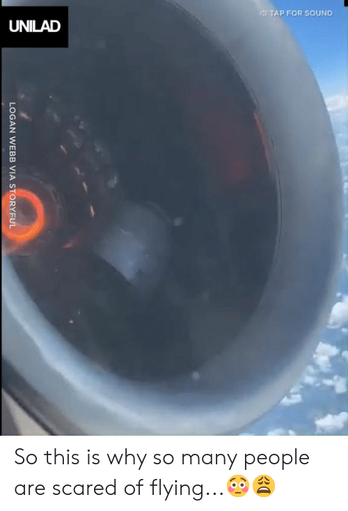 Dank, 🤖, and Sound: 4TAP FOR SOUND  UNILAD  LOGAN WEBB VIA STORYFUL So this is why so many people are scared of flying...😳😩