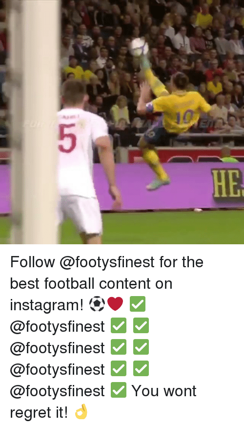 Football, Instagram, and Memes: 5 Follow @footysfinest for the best football content on instagram! ⚽️❤️ ✅@footysfinest ✅ ✅@footysfinest ✅ ✅@footysfinest ✅ ✅@footysfinest ✅ You wont regret it! 👌