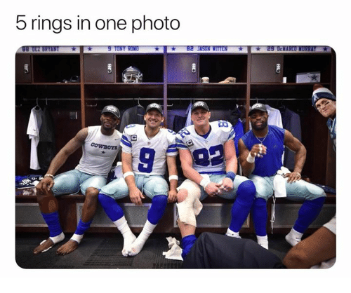 Nfl, One, and Photo: 5 rings in one photo