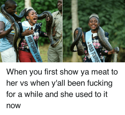 Ã…¤: When you first show ya meat to her vs when y'all been fucking for a while and she used to it now When you first show ya meat to her vs when y'all been fucking for a while and she used to it now