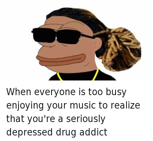 Drugs, Future, and Music: When everyone is too busy enjoying your music to realize that you're a seriously depressed drug addict
