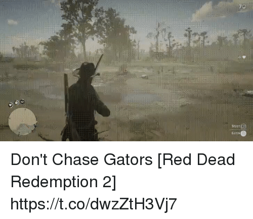 esmemes.com: 70  STuey  GATOS Don't Chase Gators [Red Dead Redemption 2] https://t.co/dwzZtH3Vj7
