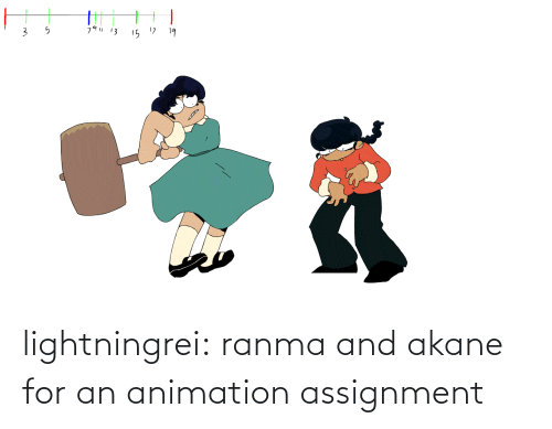 ranma: 79  13  15 17  19 lightningrei:  ranma and akane for an animation assignment