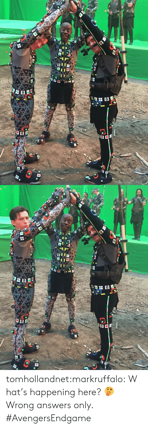 Instagram, Target, and Tumblr: 8  E  8   8  8  8 tomhollandnet:markruffalo:What's happening here? 🤔 Wrong answers only. #AvengersEndgame