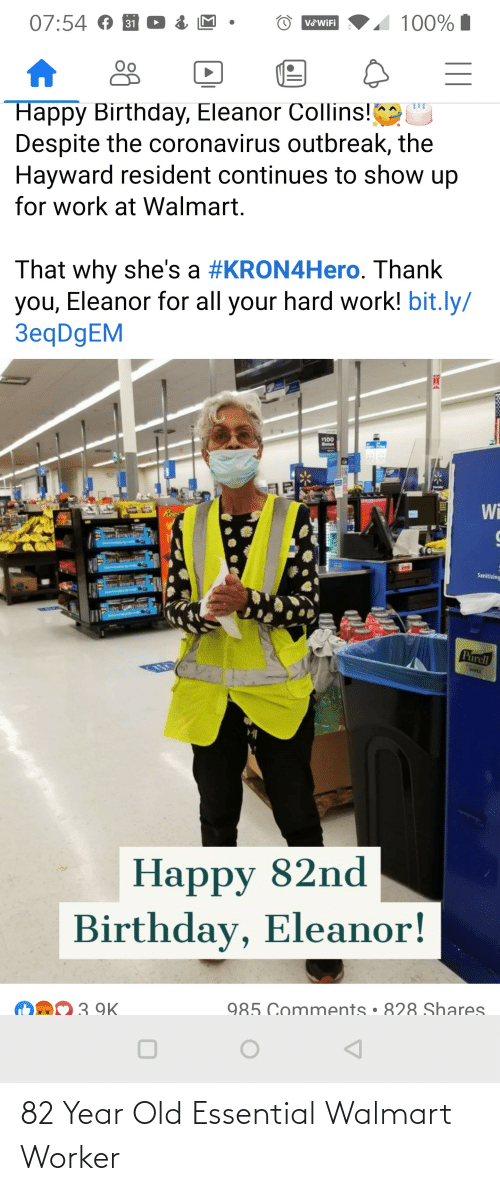 Walmart: 82 Year Old Essential Walmart Worker