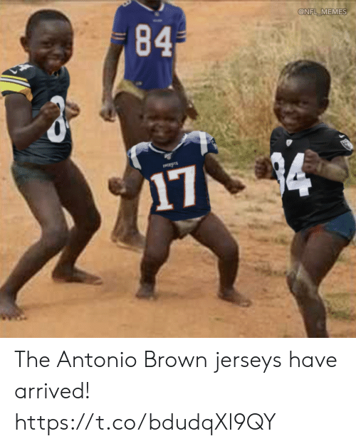 Antonio: 84  @NFL MEMES  PATIOTS  174 The Antonio Brown jerseys have arrived! https://t.co/bdudqXl9QY