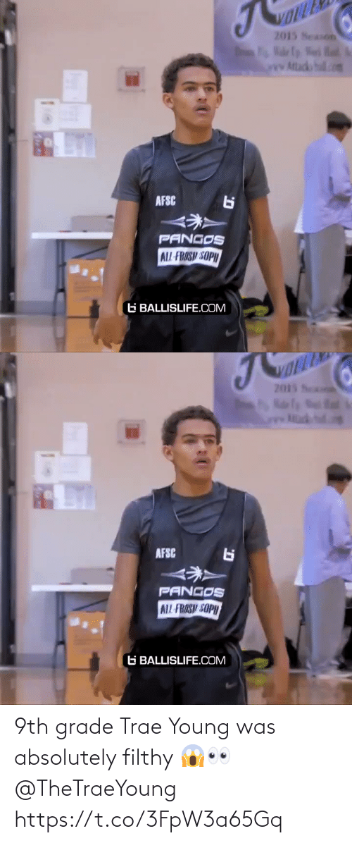 grade: 9th grade Trae Young was absolutely filthy 😱👀 @TheTraeYoung https://t.co/3FpW3a65Gq