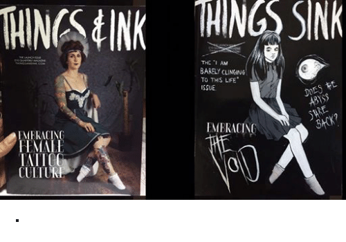 """tink: THINGS tINK THINGS SNR  THE """"I AM  BARELY CLINGING  TO THIS LIFE  ISSUE  DOES  EMBRACING  FMERACING  FEMALE  IAITG ·"""