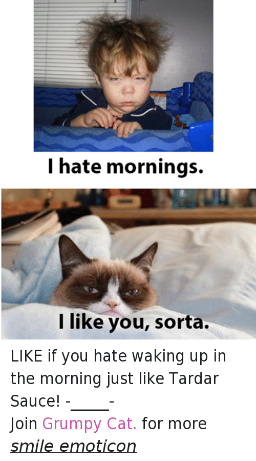 waking up in the morning