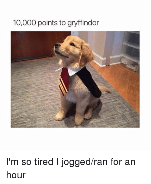 Instagram Im so tired I jogged ran for ba8c64 10000 points to gryffindor i'm so tired i jogged ran for an hour