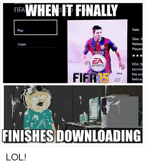 Fifa 15: WHENIT FINAL  FIFA  Rate  Play  Size: 3  Releas  Unpin  Player  QATAR  FIFA 15  SPORTS  stunnin  the em  FIFA  FIFA  before  FINISHES DOWNLOADING LOL!