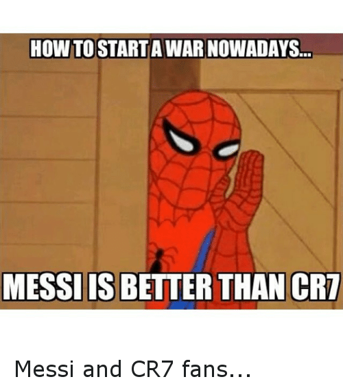 crm: HOW TOSTARTA WARNOWADAYS  MESSIIS BETTER THAN CRM Messi and CR7 fans...