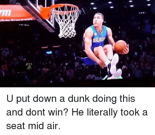 NBA All-Star Game: U put down a dunk doing this and dont win? He literally took a seat mid air.