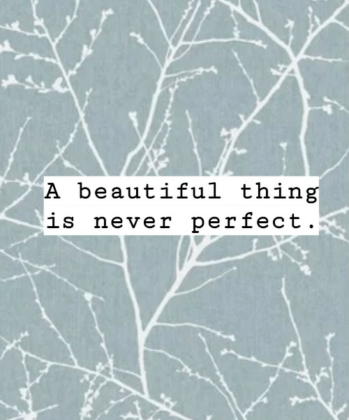 Beautiful Thing: A beautiful thing  is never perfect
