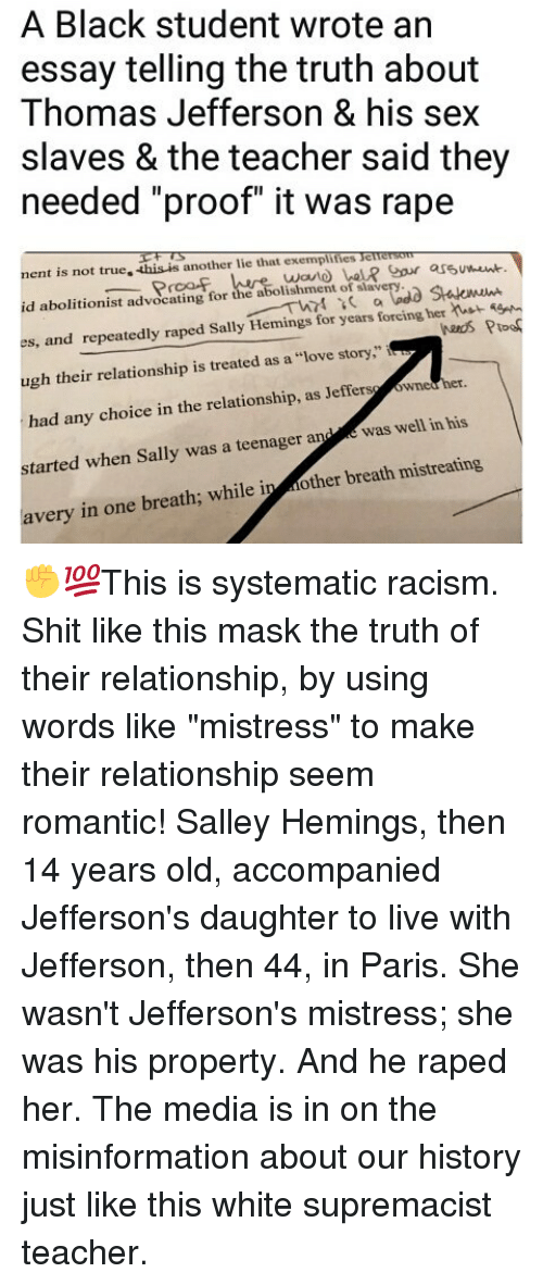 Essay Writers Online Memes Racism And Sex A Black Student Wrote An Essay Telling The Truth Community Service Essay Samples also Essay For Student Council A Black Student Wrote An Essay Telling The Truth About Thomas  Academic Achievements Essay