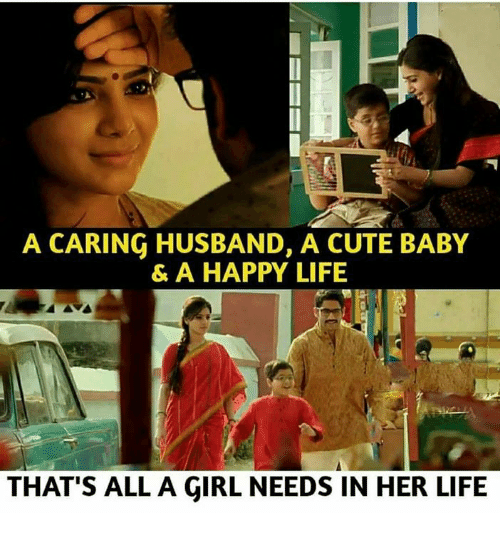 Cute, Life, and Memes: A CARING HUSBAND, A CUTE BABY  & A HAPPY LIFE  THAT'S ALL A GIRL NEEDS IN HER LIFE