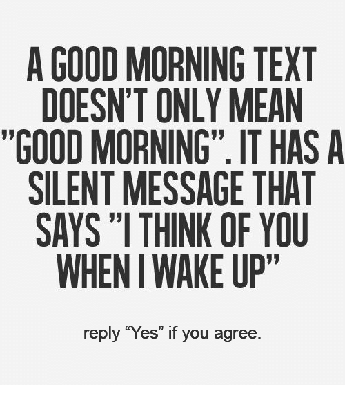 To good morning text reply Cute and