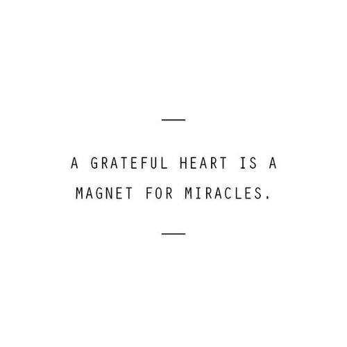 magnet: A GRATEFUL HEART IS A  MAGNET FOR MIRACLES