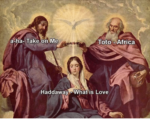 What Is Love: a-ha- Take on Me  Toto-Africa  Haddaway-What is Love