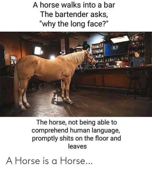 A Horse: A Horse is a Horse…