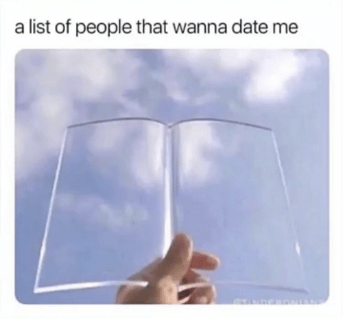 A List Of: a list of people that wanna date me