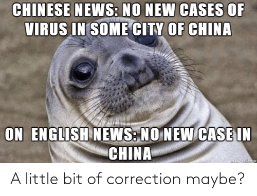 Correction: A little bit of correction maybe?