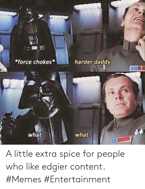 spice: A little extra spice for people who like edgier content. #Memes #Entertainment