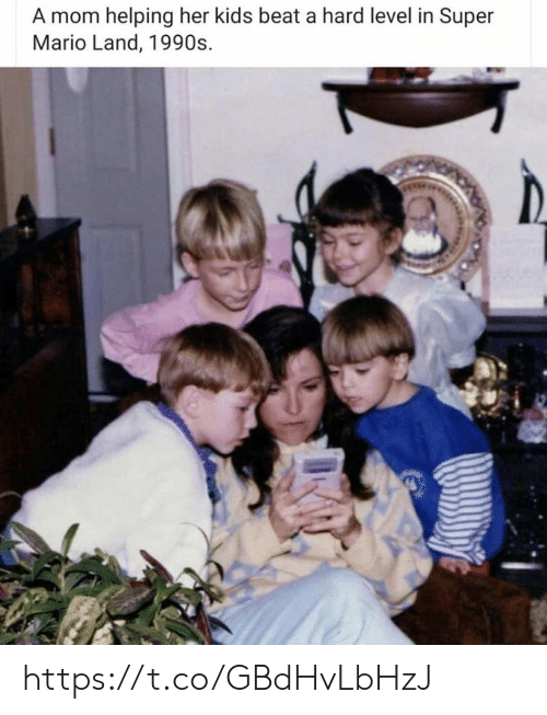 Memes, Super Mario, and Mario: A mom helping her kids beat a hard level in Super  Mario Land, 1990s https://t.co/GBdHvLbHzJ