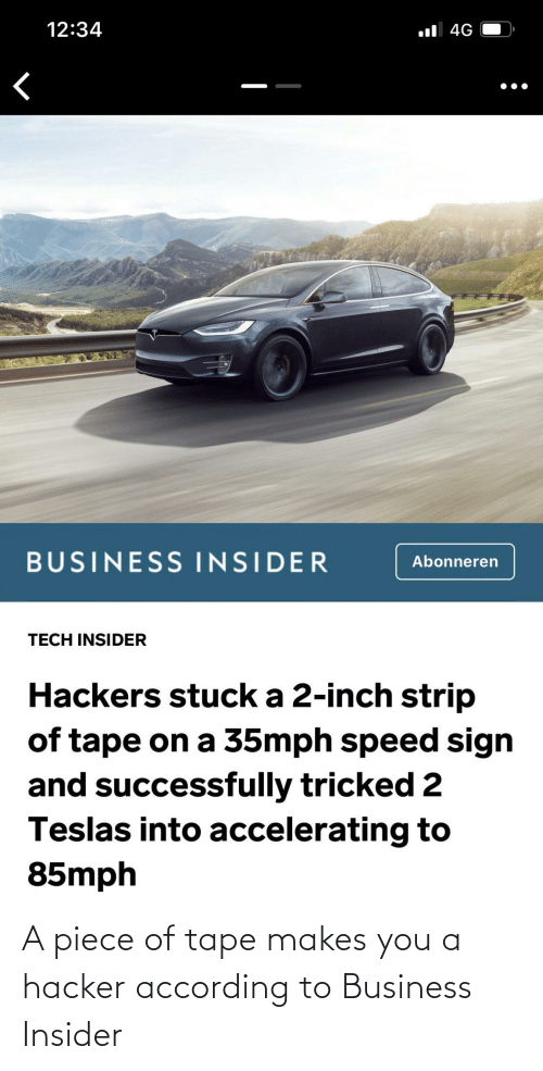 According: A piece of tape makes you a hacker according to Business Insider
