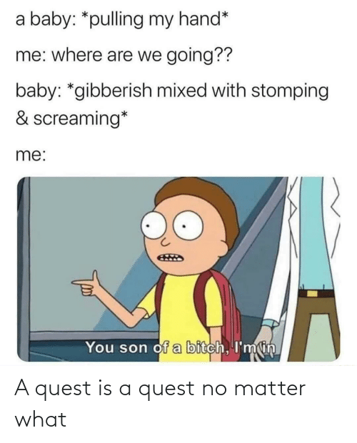 Quest: A quest is a quest no matter what