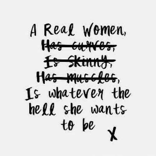 Hell, She, and Real: A Real Wemen,  fSkinn  Is whatever the  hell she wants  to be  X