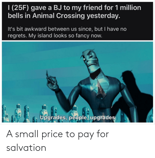 price: A small price to pay for salvation
