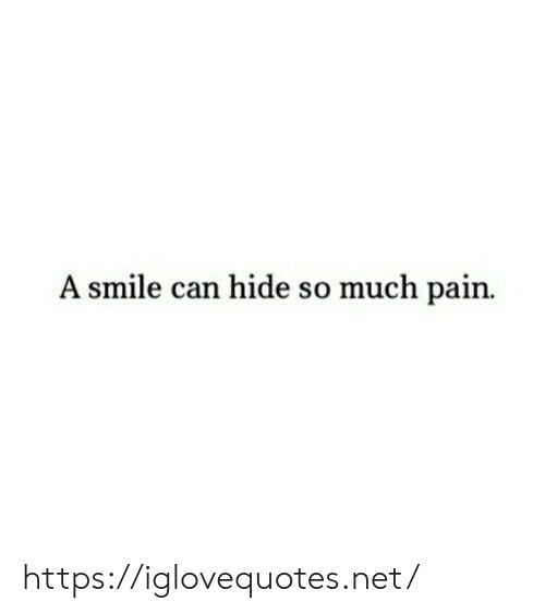 Smile, Pain, and Net: A smile can hide so much pain https://iglovequotes.net/