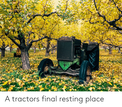 Resting: A tractors final resting place