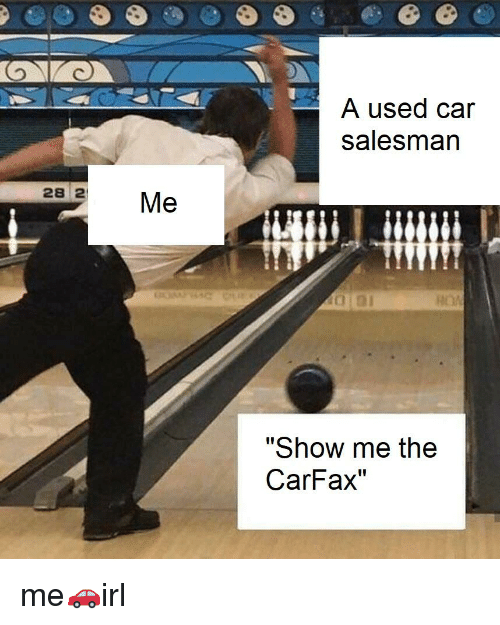 Irl, Car, and Carfax: A used car