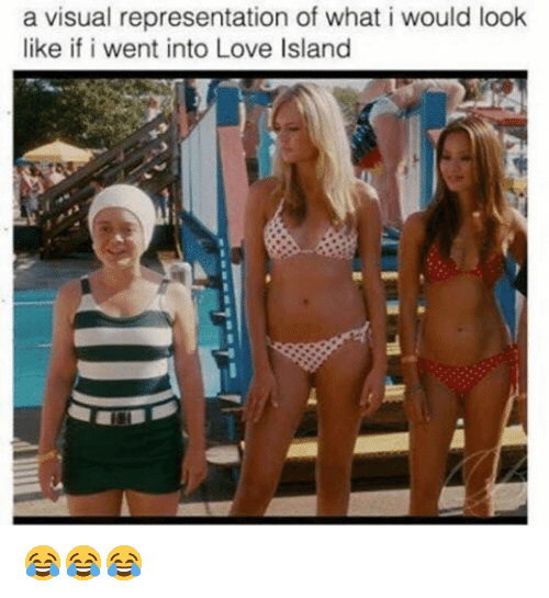 Love, Memes, and 🤖: a visual representation of what i would look  like if i went into Love Island 😂😂😂