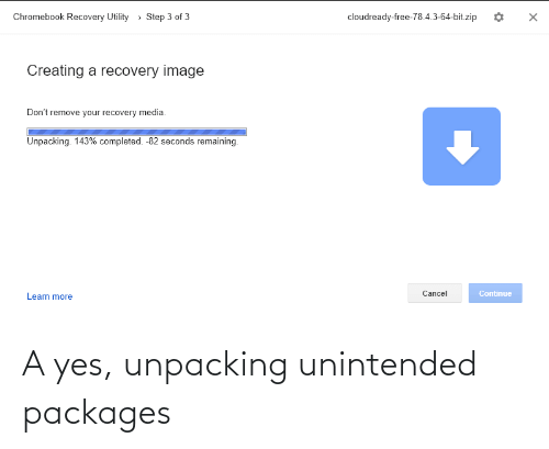 packages: A yes, unpacking unintended packages