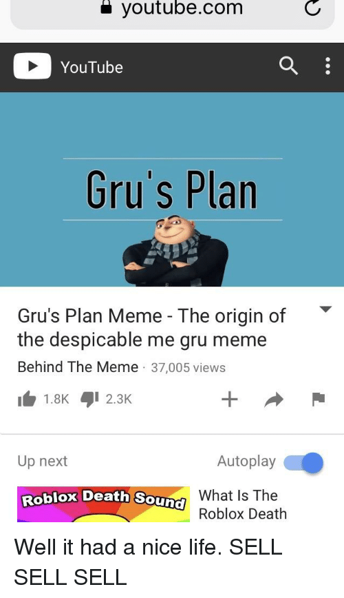 A Youtubecom YouTube Gru's Plan Gru's Plan Meme - The Origin