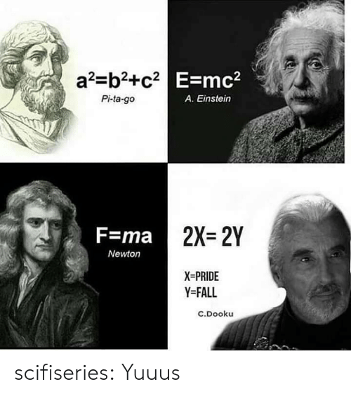 Fall, Tumblr, and Blog: a2-b2+c2 E-mc2  Pi-ta-go  A. Einstein  2X=2Y  F=ma  Newton  X-PRIDE  Y-FALL  c.Dooku scifiseries:  Yuuus