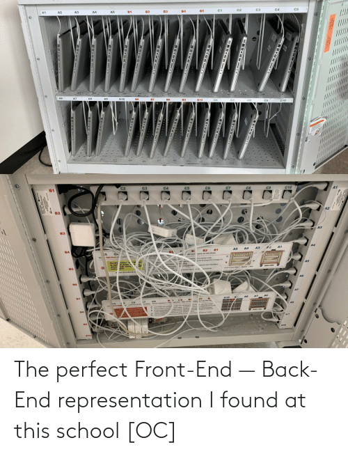 Found: A3  A4  c3  /////////  ......  ........L..U  DE-- 1T  18-Iet 1  -  --  -- The perfect Front-End — Back-End representation I found at this school [OC]