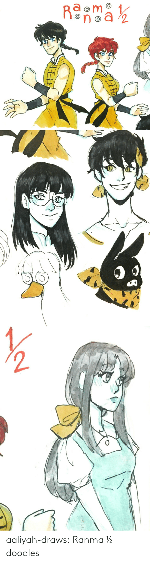 Draws: aaliyah-draws:  Ranma ½ doodles