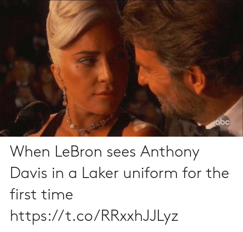 Anthony Davis: abc When LeBron sees Anthony Davis in a Laker uniform for the first time https://t.co/RRxxhJJLyz