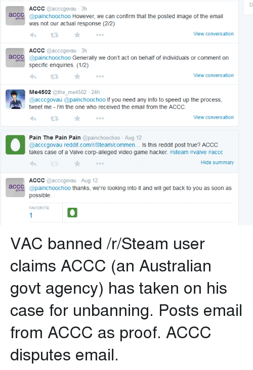 ACCC Acccgovau 3h aCCC However We Can Confirm That the Posted Image
