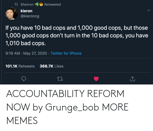 bob: ACCOUNTABILITY REFORM NOW by Grunge_bob MORE MEMES