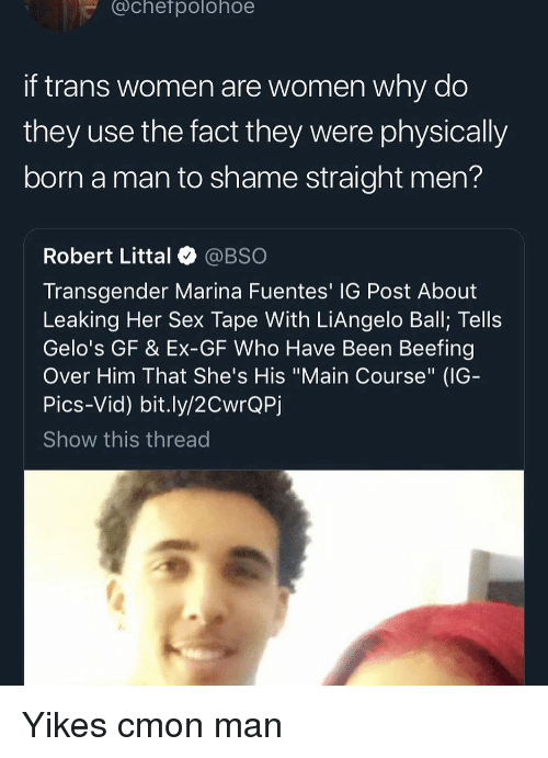 Achefpolohoe If Trans Women Are Women Why Do They Use The Fact They