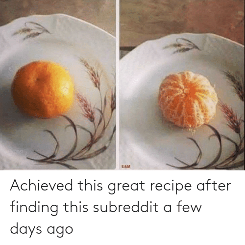 a-few-days: Achieved this great recipe after finding this subreddit a few days ago