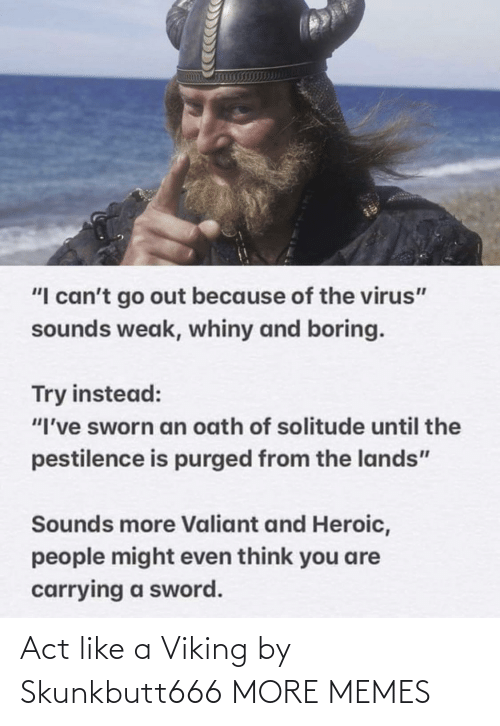 act: Act like a Viking by Skunkbutt666 MORE MEMES
