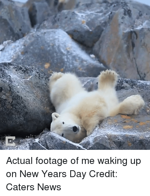 new years day: Actual footage of me waking up on New Years Day  Credit: Caters News