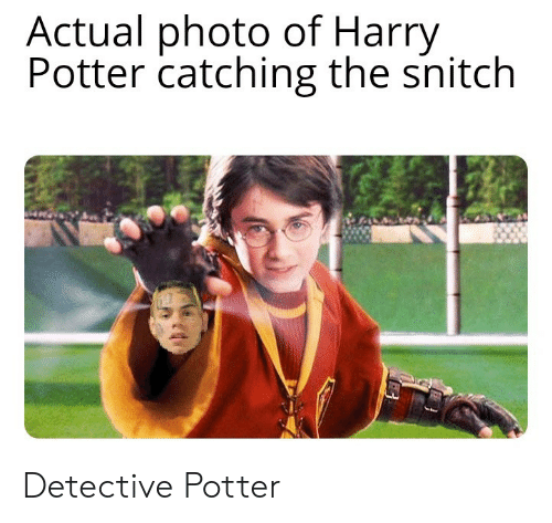 Harry Potter, Snitch, and Potter: Actual photo of Harry  Potter catching the snitch Detective Potter